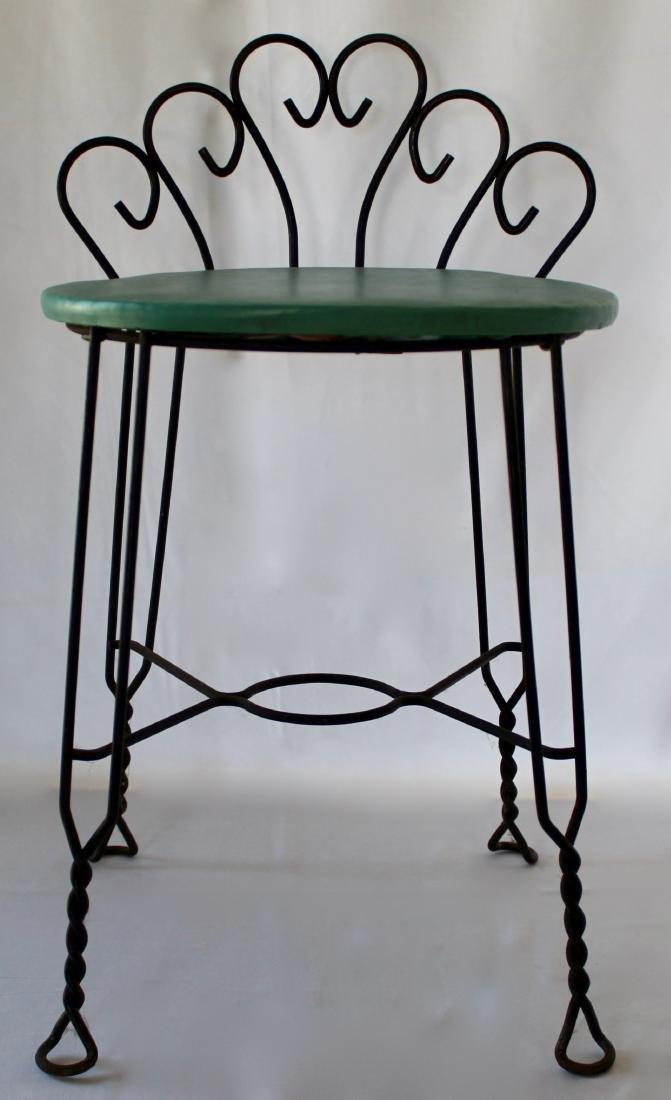 Vintage Brass Vanity Chair