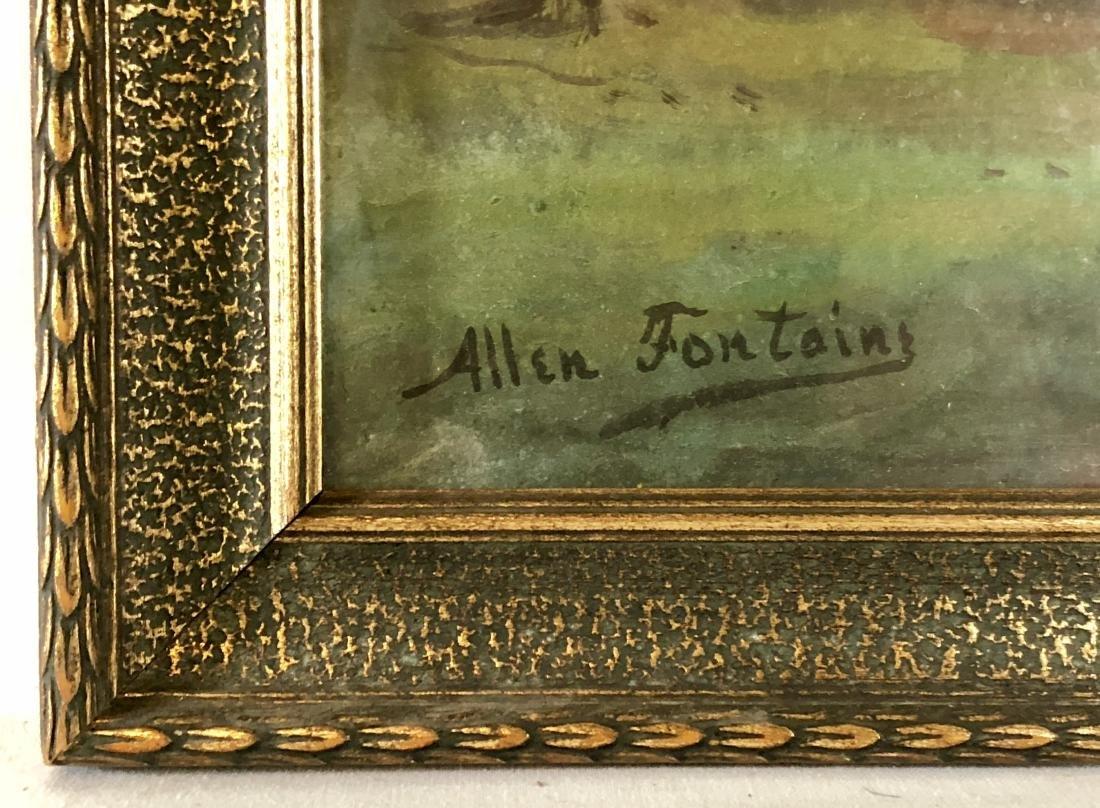 Pair of Allen Fontaine Watercolor Autumn Landscapes - 3