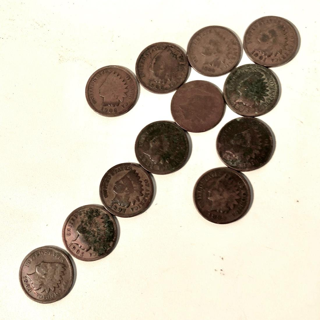 $0.90 Worth of Indian Head, Wheat Back Pennies and a - 3