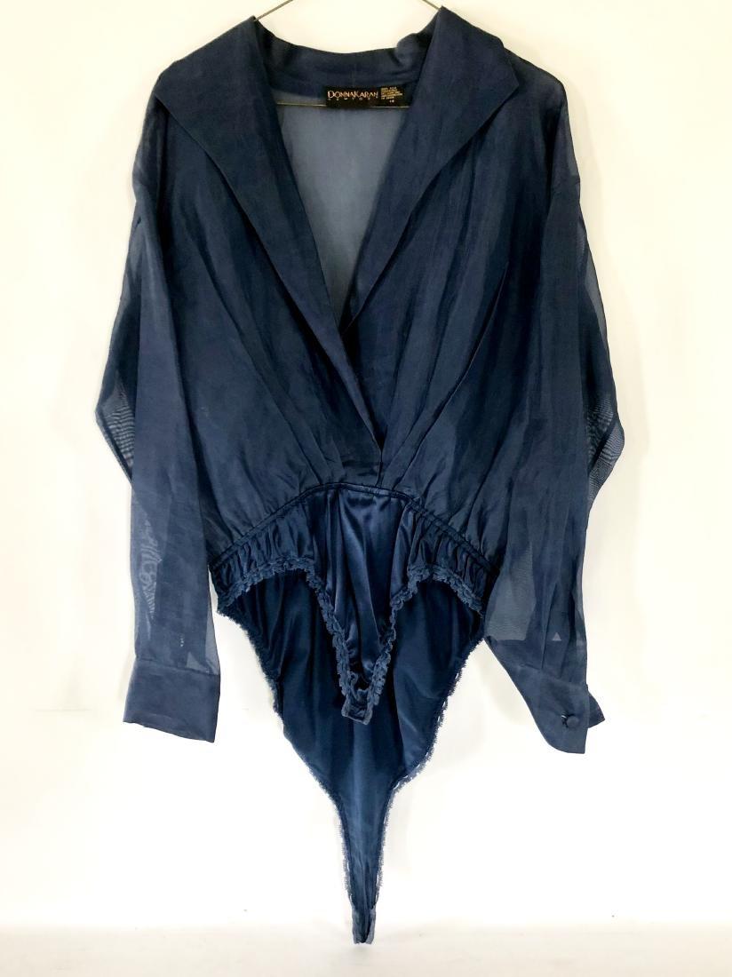 Size 14 Donna Karan Blue Bodysuit