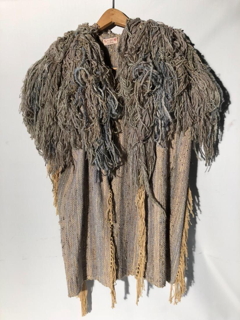 Vintage Gene Stucky Hand Woven Wool Yarn Collar Vest