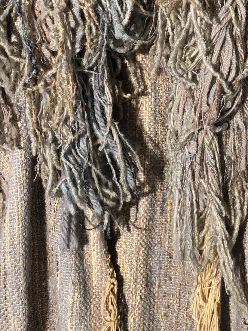 Vintage Gene Stucky Hand Woven Wool Yarn Collar Vest - 2