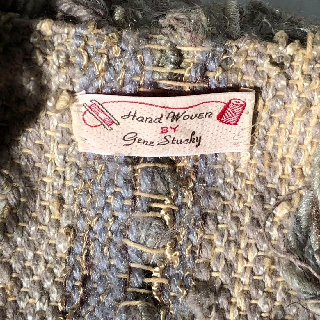 Vintage Gene Stucky Hand Woven Wool Yarn Collar Vest - 3