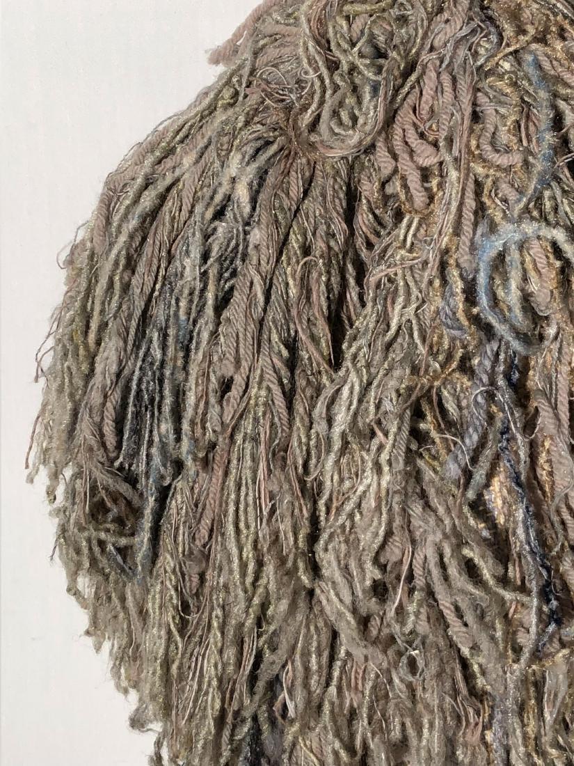 Vintage Gene Stucky Hand Woven Wool Yarn Collar Vest - 4
