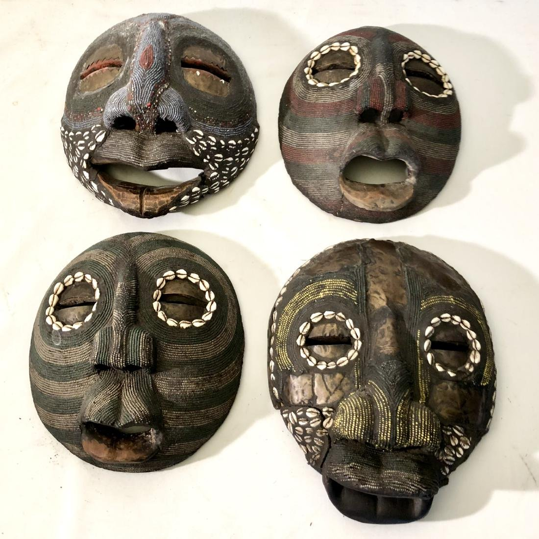 Lot of 4 African Tribal Masks