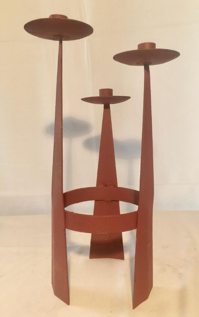 Mid Century Modern Iron Candle Stand
