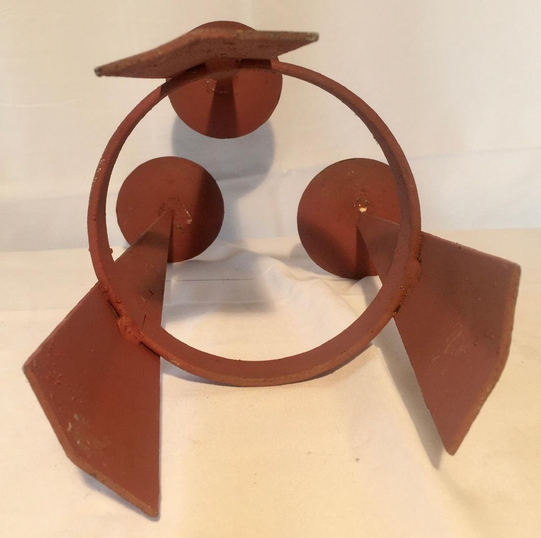 Mid Century Modern Iron Candle Stand - 3