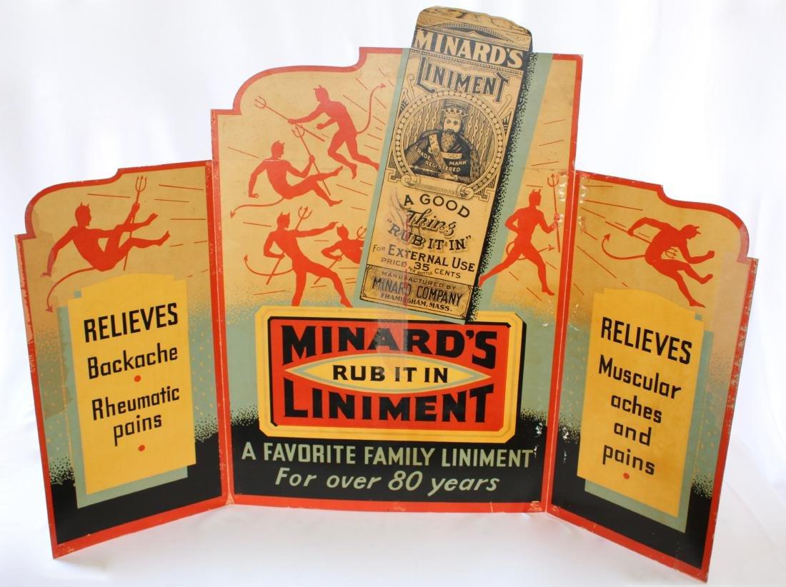 "Vintage 1910 3 Piece Minard""s Liniment Medicine"