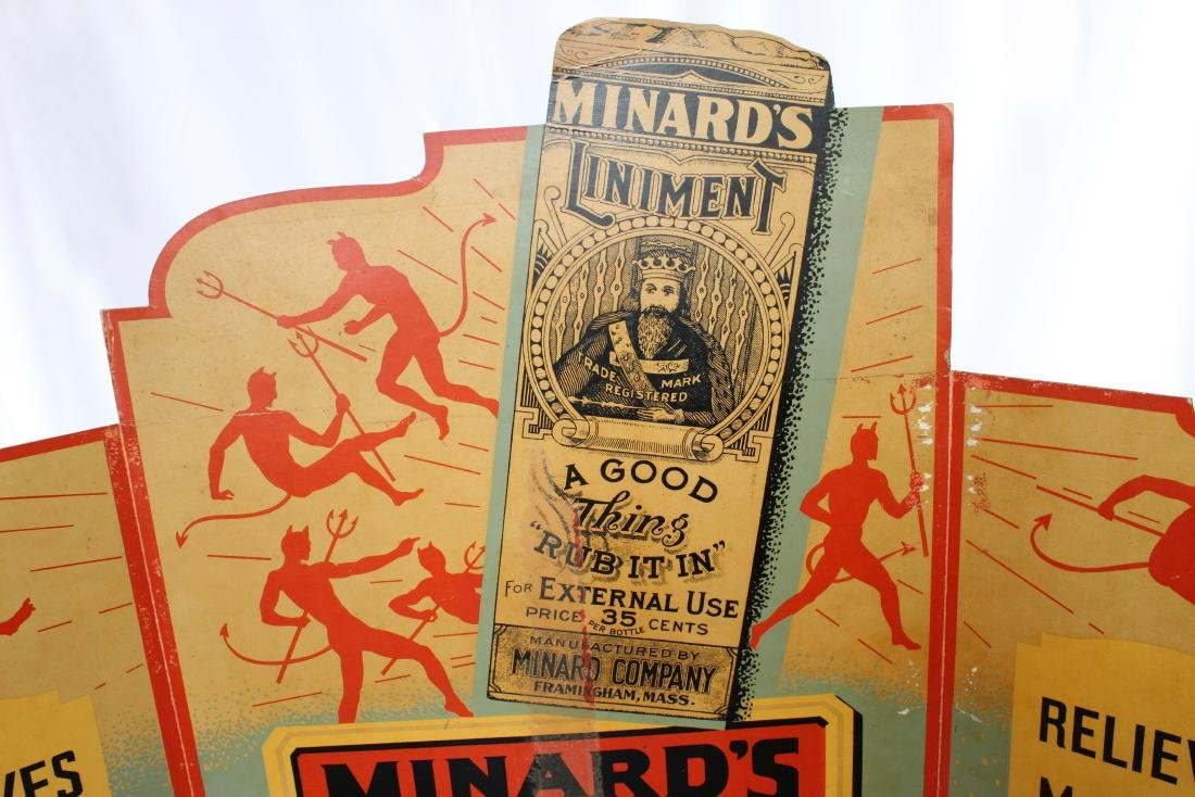 "Vintage 1910 3 Piece Minard""s Liniment Medicine - 3"