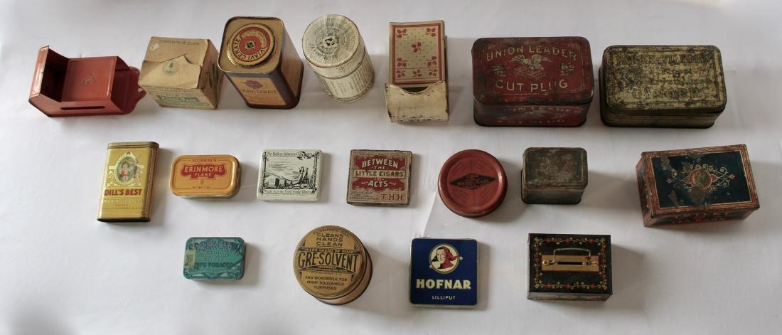 Rare Lot of 17 Vintage Tins