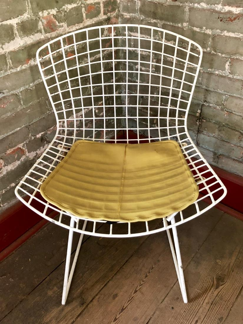 Harry Bertoia White Wire Side Chair for Knoll