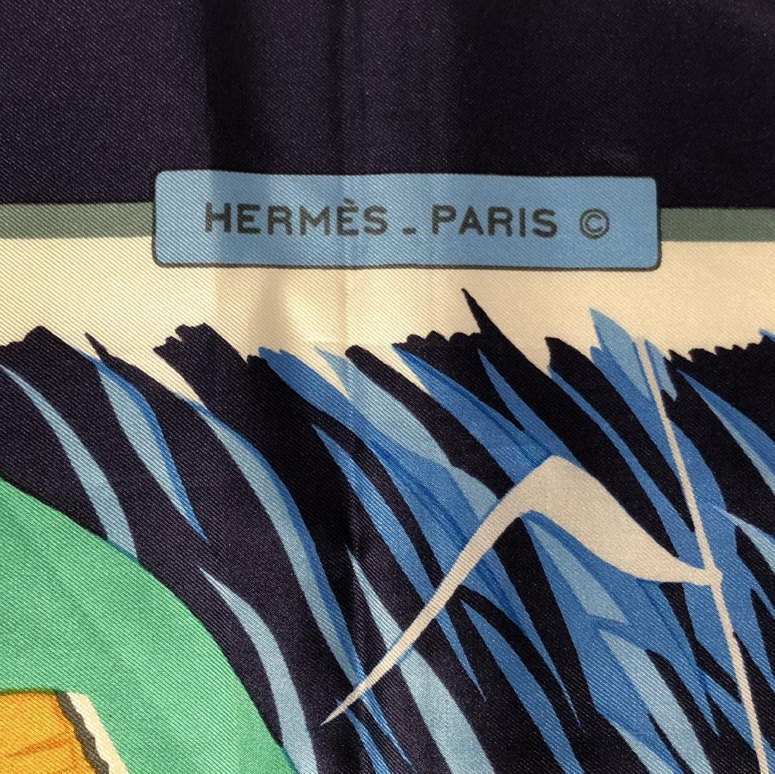 Rare HERMES 1973 Cols Verts by Christiane Vauzelles - 2
