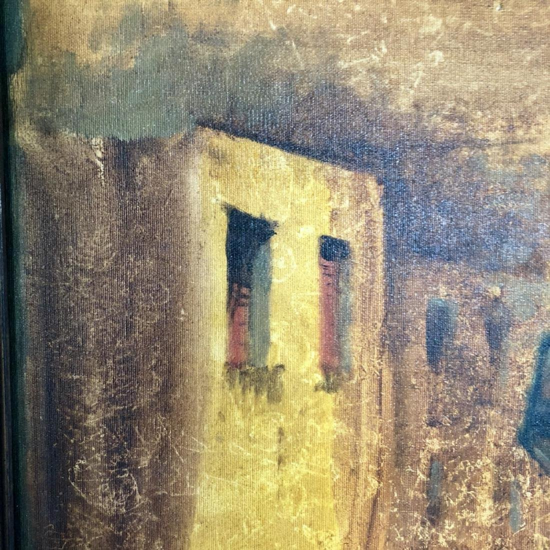Signed Conti Oil Painting - 4