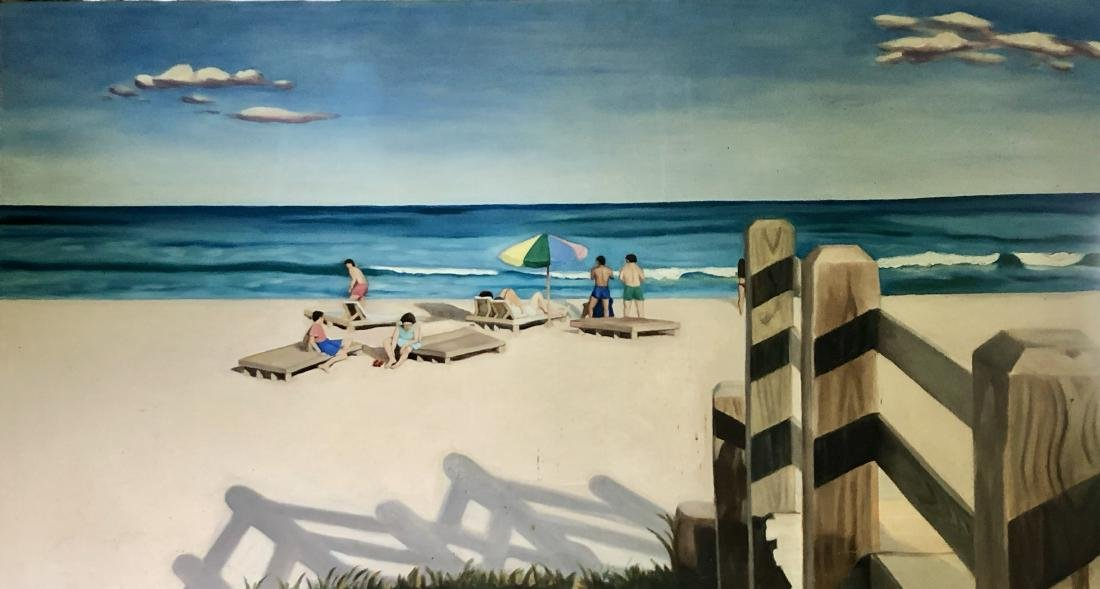 Painting of a Beach on Canvas