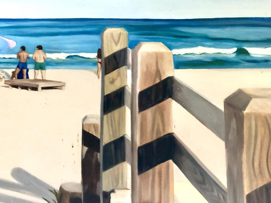 Painting of a Beach on Canvas - 2