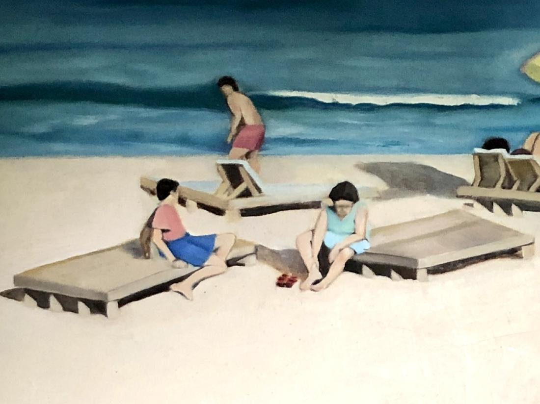 Painting of a Beach on Canvas - 3