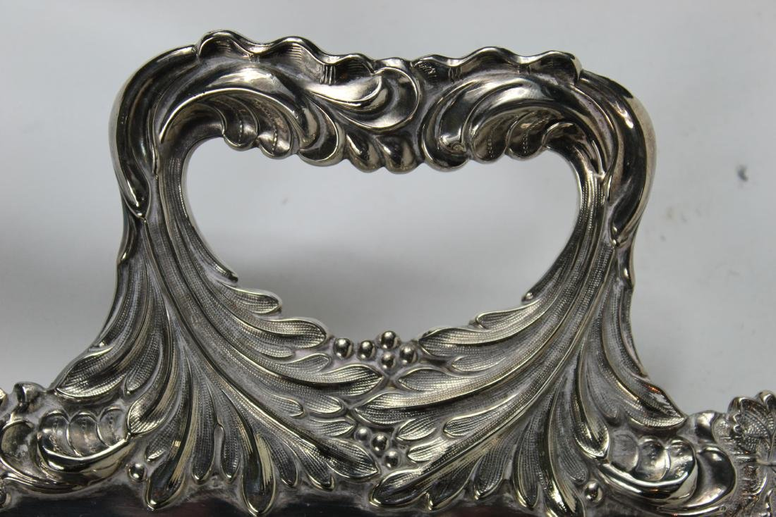 Old English Silver Large Plated Serving Tray - 5
