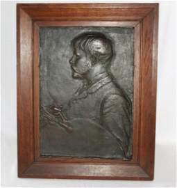 1880 Antique Saint Augustus Gaudens Portrait of Jules