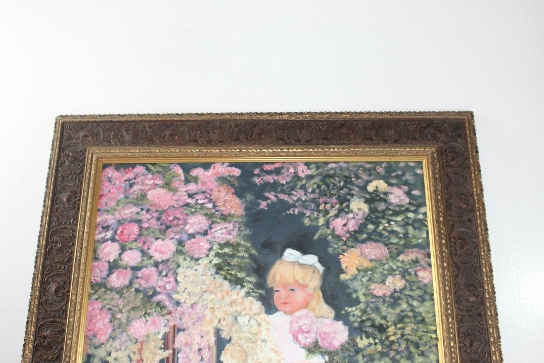 Little Girl around Flowers Painting by Teri Peluso - 4