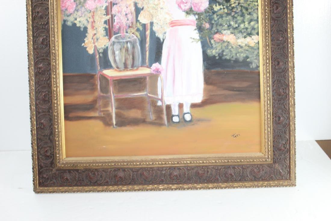 Little Girl around Flowers Painting by Teri Peluso - 5