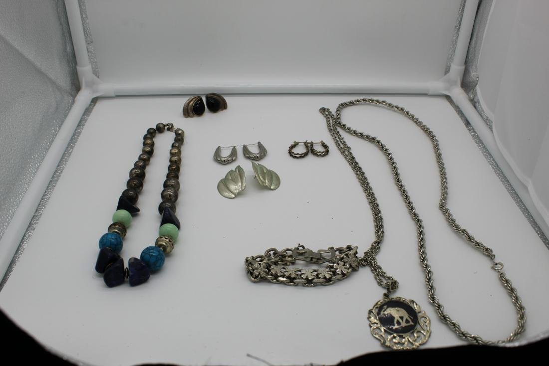 Lot of 8 piece costume jewelry - 2
