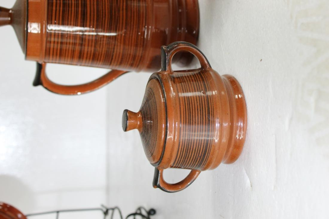 Japanese Coffee Pot Set w/ Creamer, Sugar Pot & Set of - 10