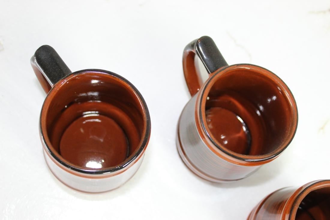 Japanese Coffee Pot Set w/ Creamer, Sugar Pot & Set of - 6