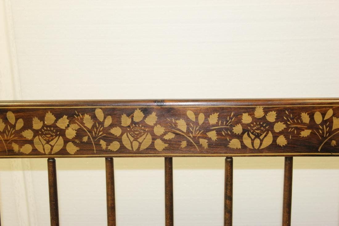 Wooden Bench w/ Floral Designs - 2