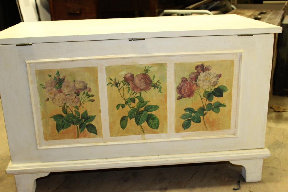 Hand Painted Blanket Chest - 10