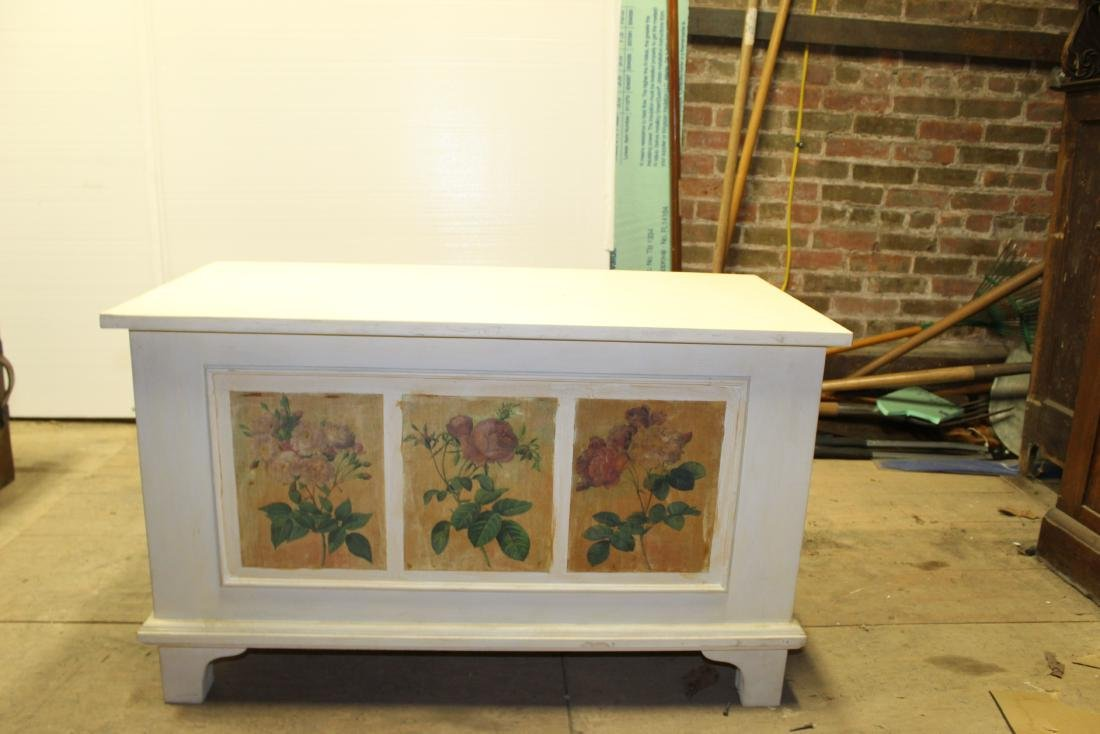 Hand Painted Blanket Chest