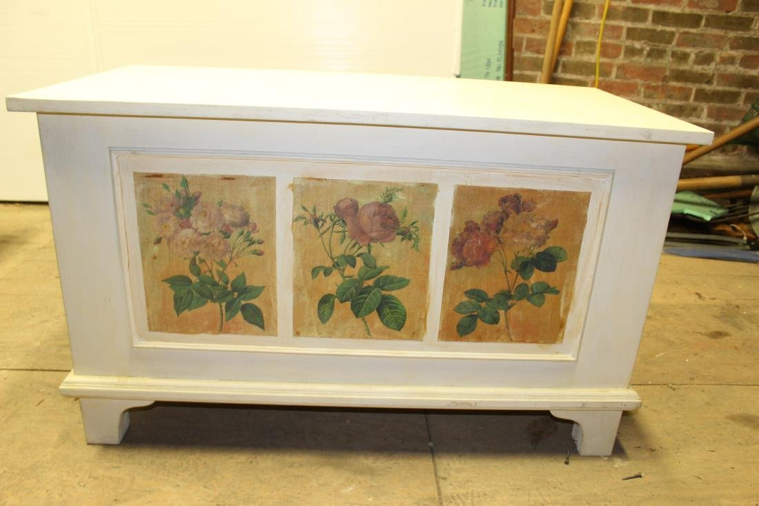 Hand Painted Blanket Chest - 2
