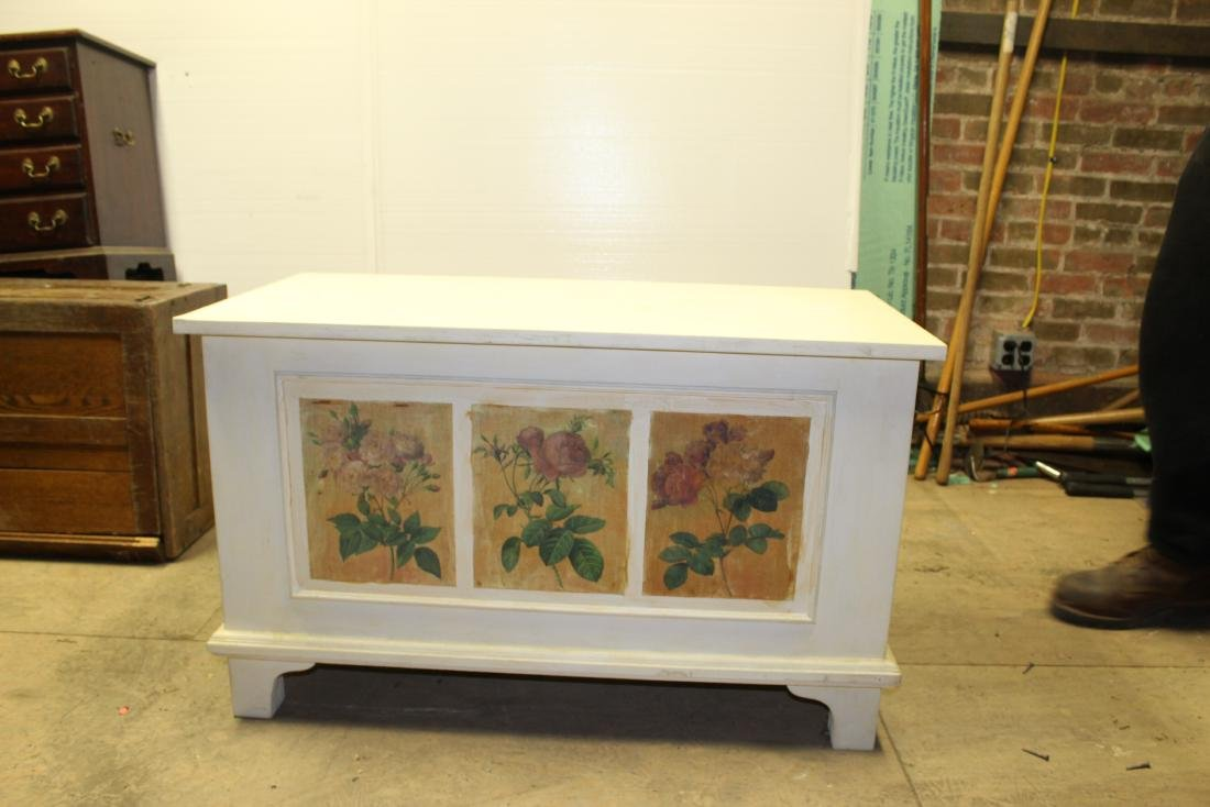 Hand Painted Blanket Chest - 3