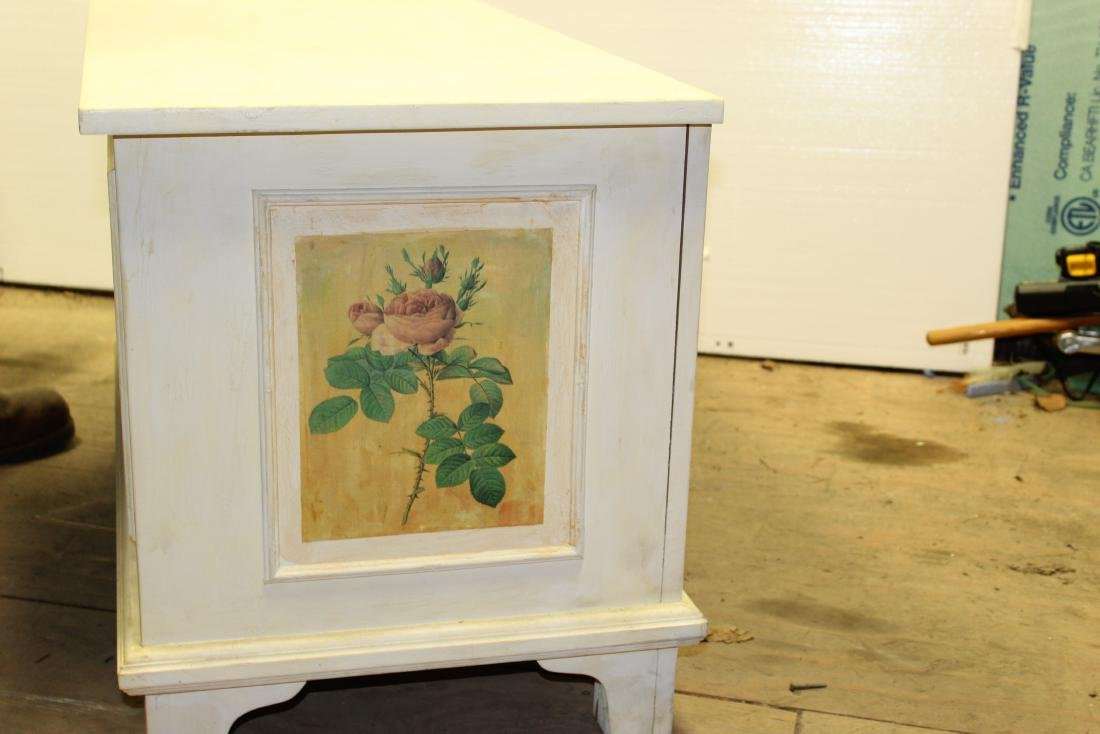 Hand Painted Blanket Chest - 9