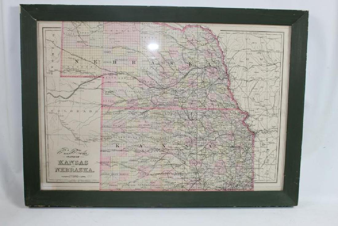 1894 County and Township Map of the States of Kansas