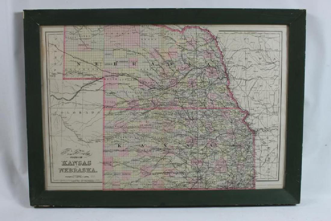 1894 County and Township Map of the States of Kansas - 2