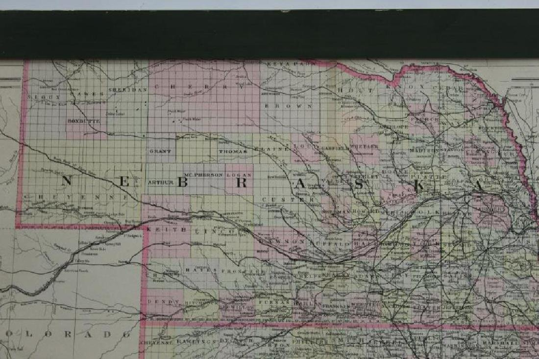 1894 County and Township Map of the States of Kansas - 3