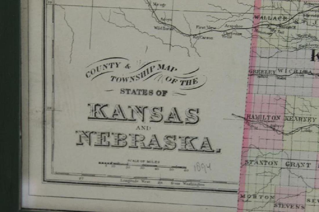 1894 County and Township Map of the States of Kansas - 4