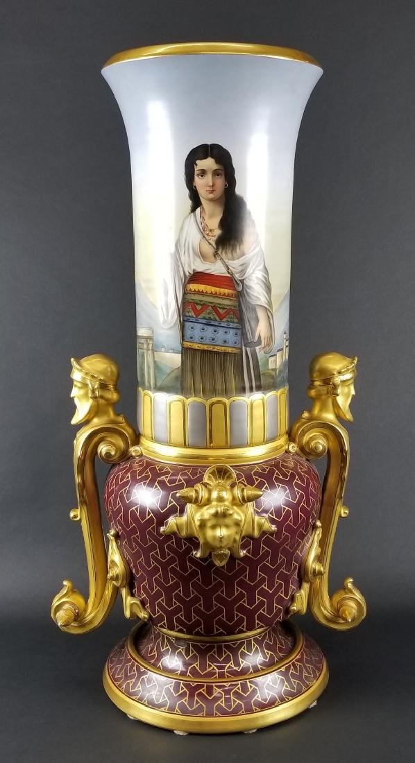 Large Royal Vienna Hand Painted Urn, Circa 1900