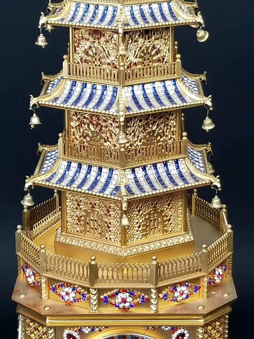 Magnificent English Gilt Bronze and Jewelled Pagoda - 4