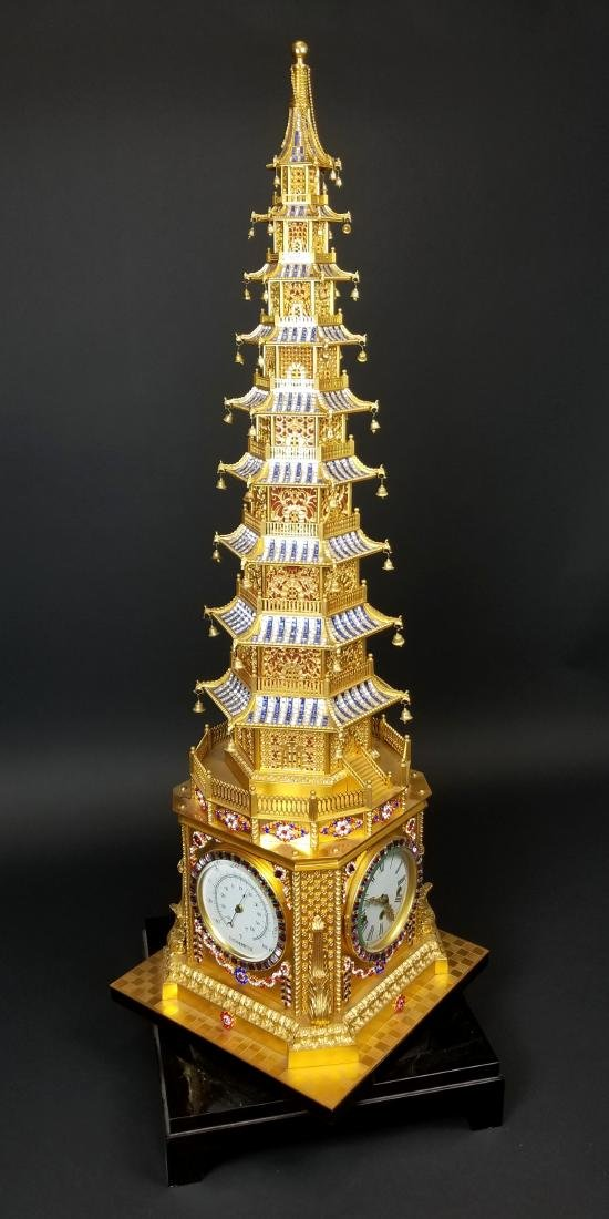 Magnificent English Gilt Bronze and Jewelled Pagoda - 5