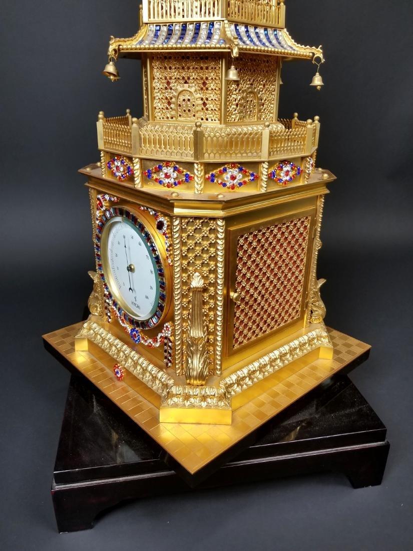 Magnificent English Gilt Bronze and Jewelled Pagoda - 7