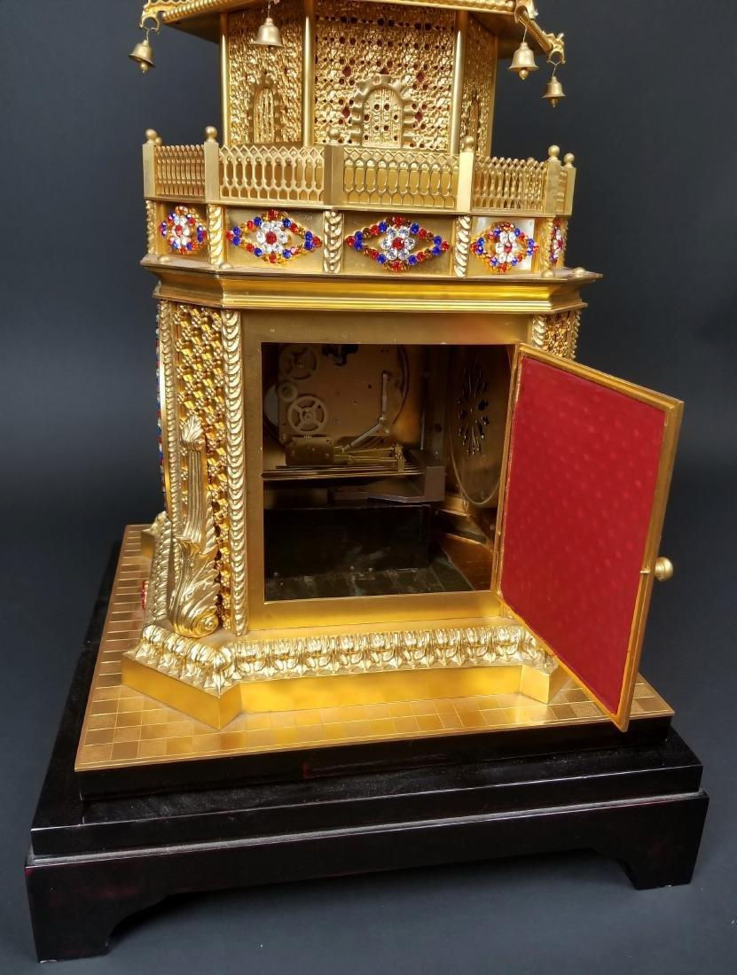 Magnificent English Gilt Bronze and Jewelled Pagoda - 8