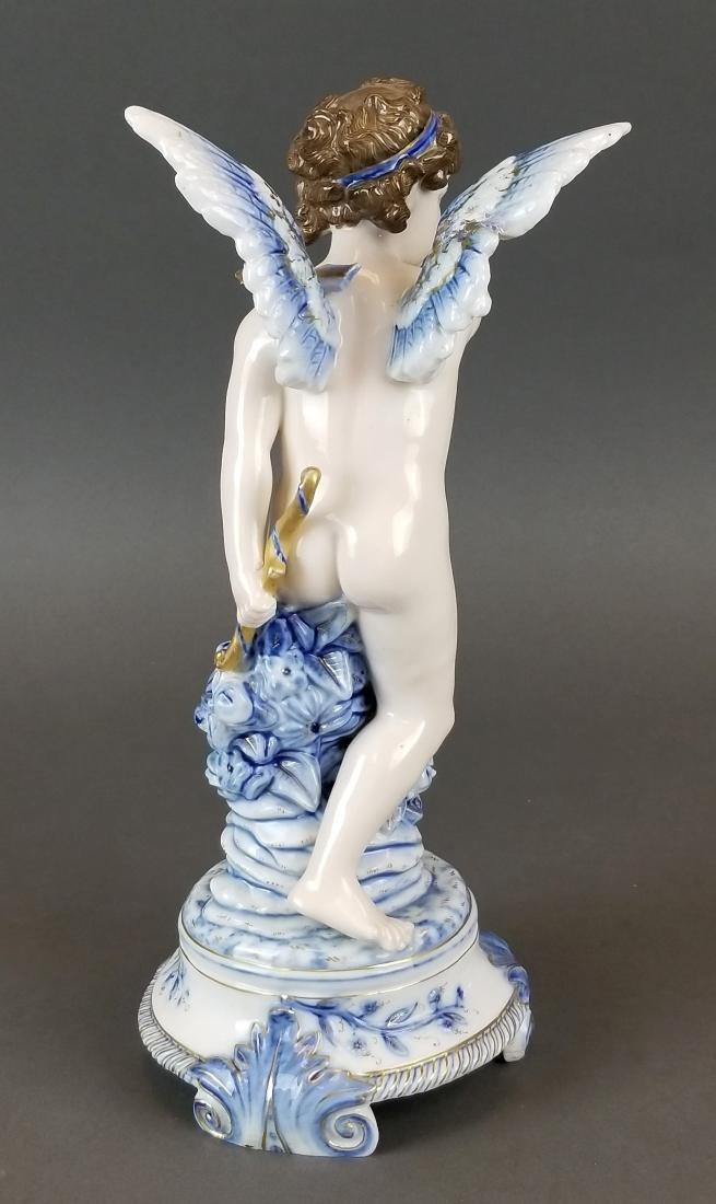 Royal Vienna Austrian Porcelain Large Figure of Angel - 5