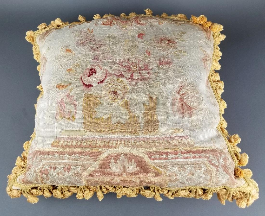 Pair of French Aubusson Needlepoint Pillows, 19th C. - 4