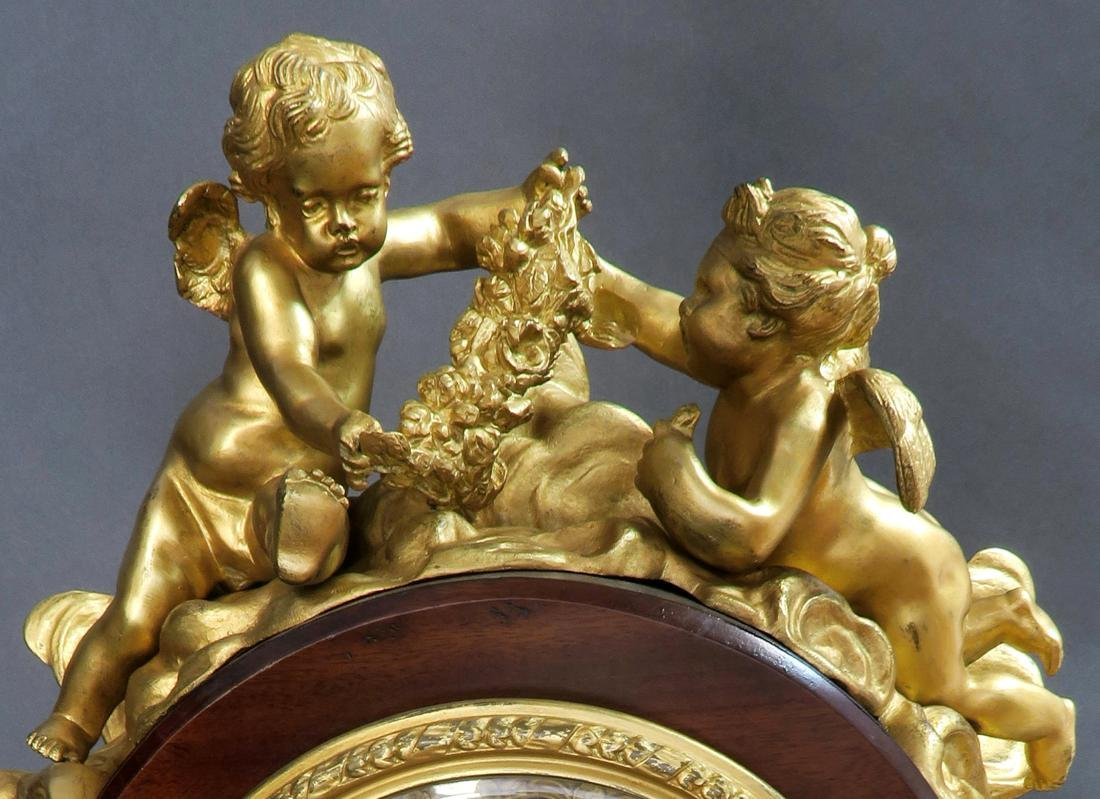 A Monumental Louis XV Style Ormolu Mounted Parquetry - 5