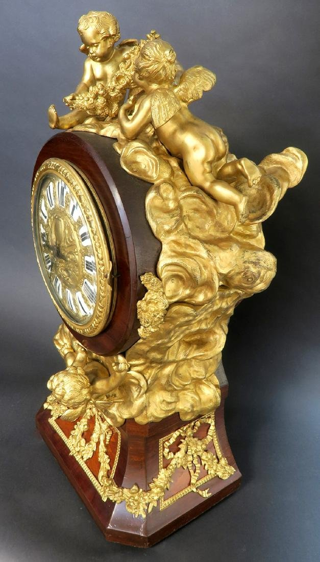 A Monumental Louis XV Style Ormolu Mounted Parquetry - 7