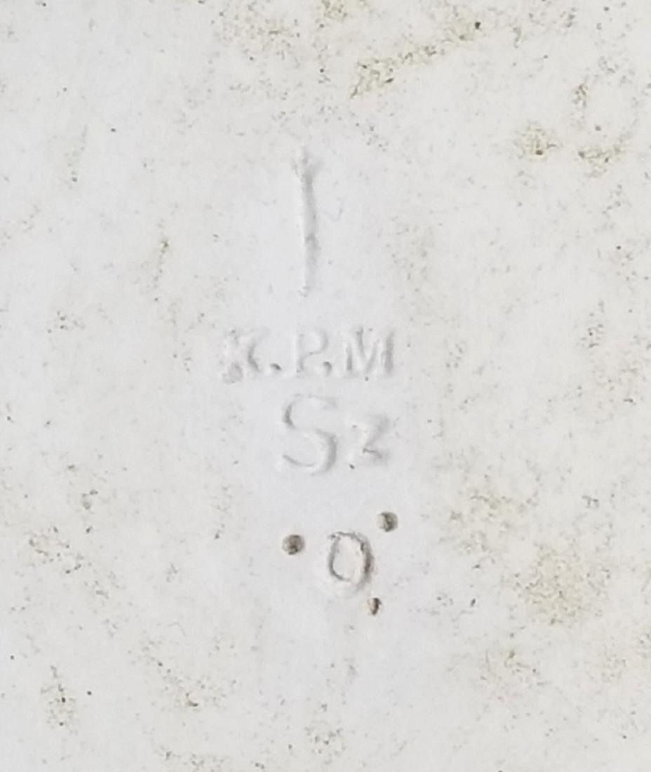 """Magnificent KPM Porcelain Plaque """"Ocean Kiss"""" - 6"""