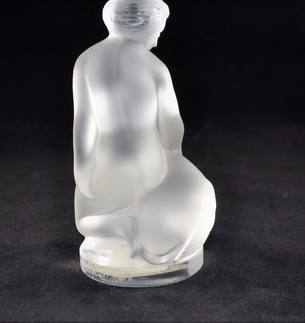 """Lalique """"Leda and The Swan"""" Crystal Figurine, Signed - 6"""
