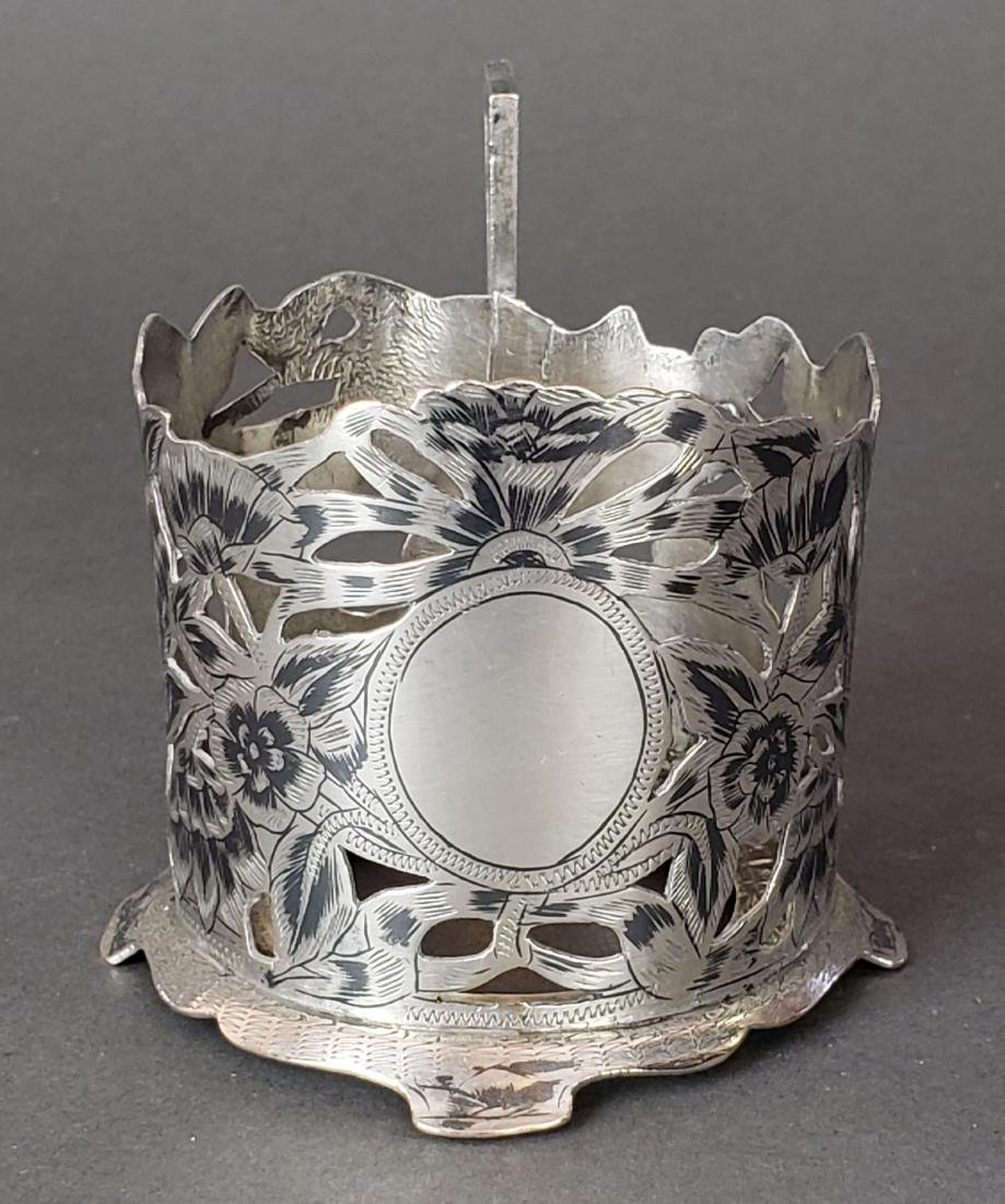 Set of 6 Persian Ahvaz Silver Cup Holders - 3