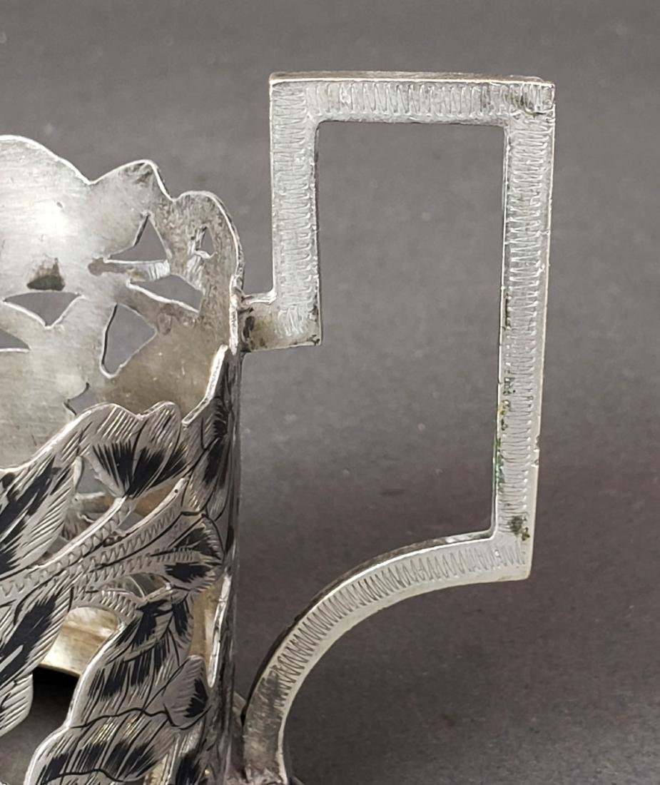 Set of 6 Persian Ahvaz Silver Cup Holders - 4